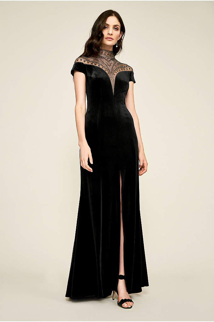 Esmeralda Gown - Dramatic illusion mesh with tattoo-style embellishments graces the