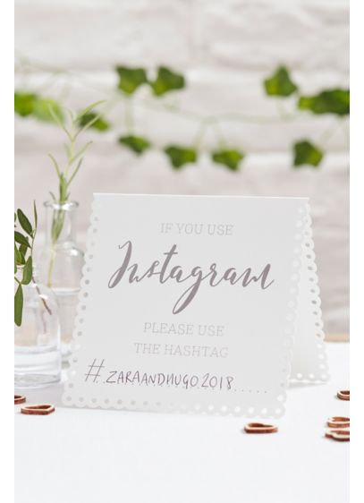 Instagram Hashtag Tent Card Set - Place this set of five tent cards around