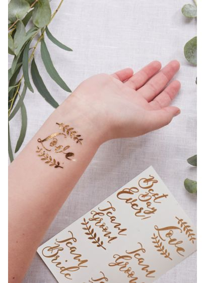 Rose Gold Temporary Tattoo Set - Wedding Gifts & Decorations