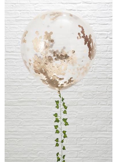 36 Inch Rose Gold Confetti Balloons Pack of - This stunning 'Rose Gold Confetti Balloon' will look