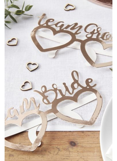 Team Bride and Team Groom Heart Glasses Pack - Your guests will love wearing these Team Bride