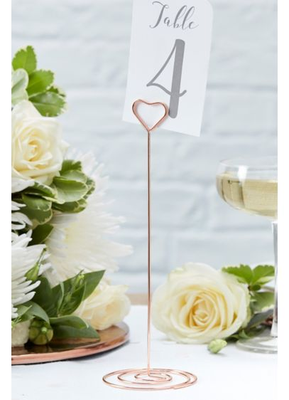 Rose Gold Heart Table Number Stand - Wedding Gifts & Decorations