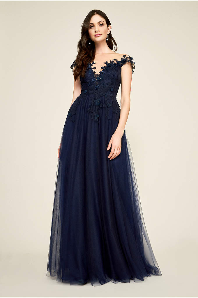 Clover Floral Applique Gown - This ultra-romantic ball gown is full of feminine