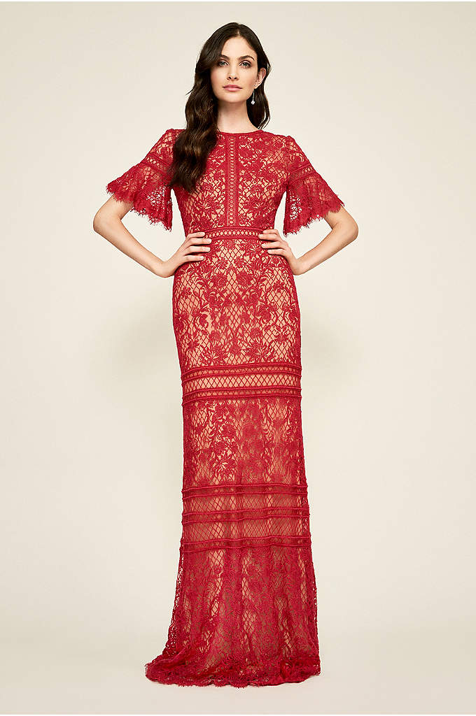 Gideon Lace Gown - Exquisite embroidery, delicate lace, and intricate seaming top