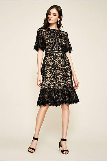 Cara Embroidered Tulle Dress