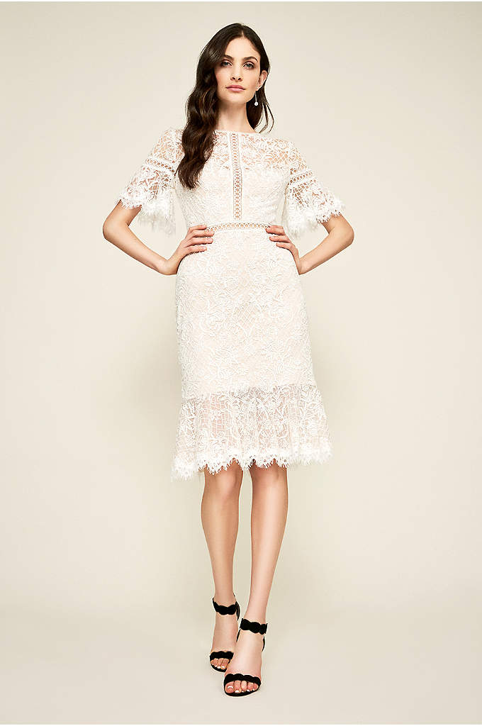 Cara Embroidered Tulle Dress - Crafted of vintage-inspired embroidered tulle, this short sheath