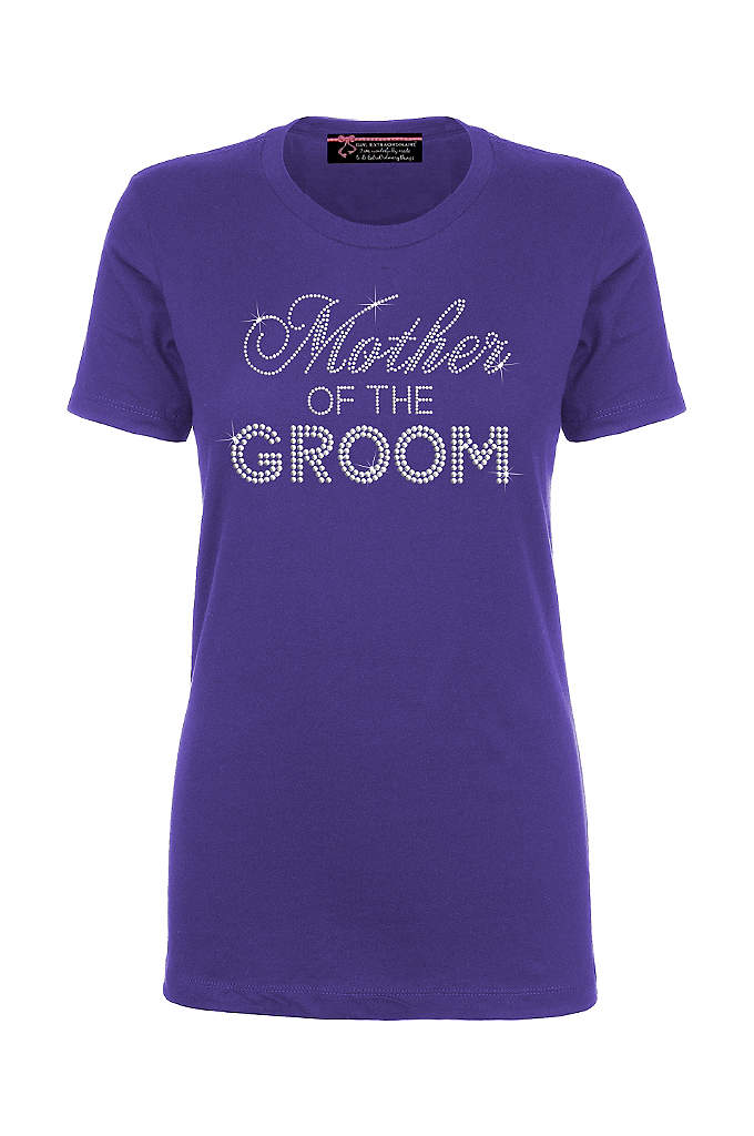 Mother of the Groom Big Bling T-Shirt - This trendy rhinestone embellished Mother of the Groom