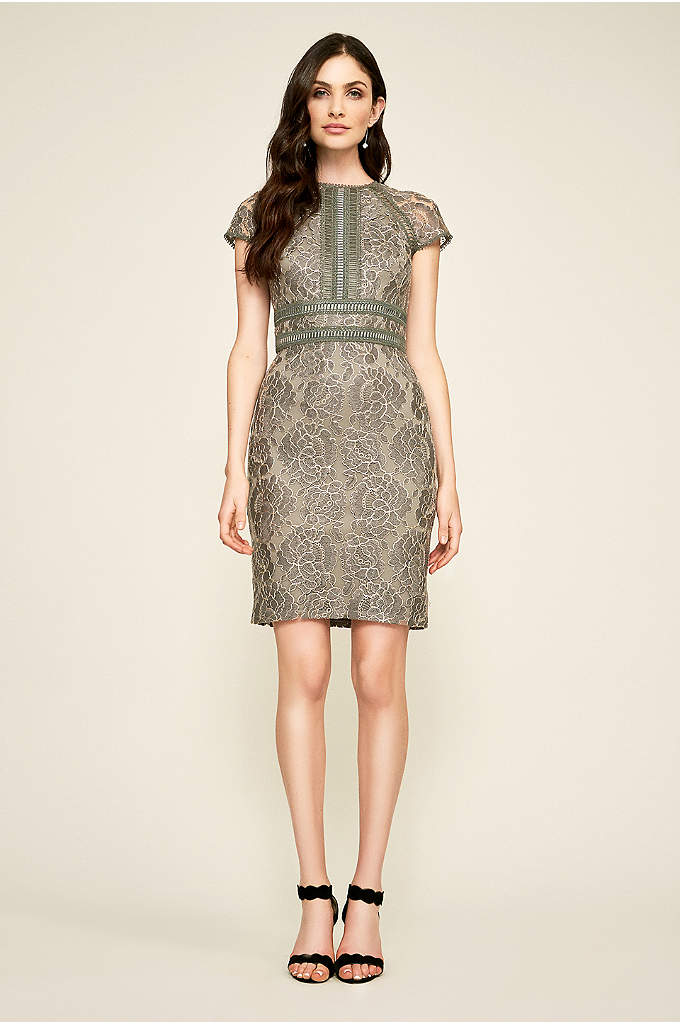 Ansel Metallic Embroidery Dress - Crafted of luxurious metallic corded lace. this classic