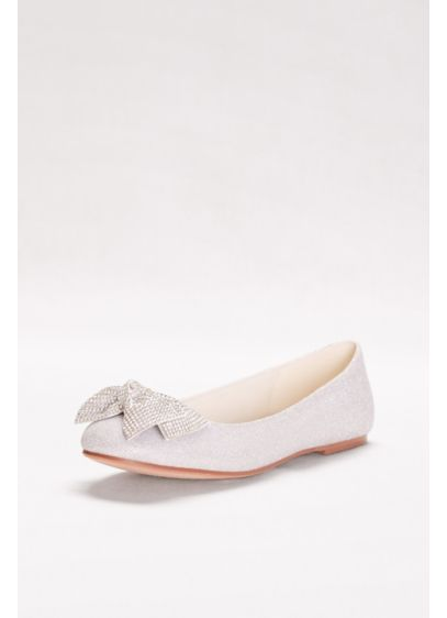David's Bridal Grey (Glitter Bow Ballet Flats)