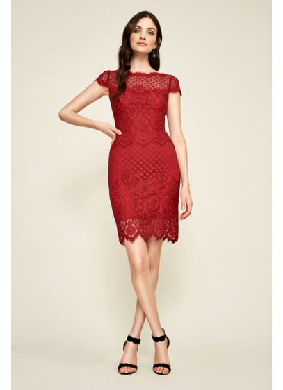Chiara Lace Dress - Fashioned from multi-patterned lace, this pretty short sheath