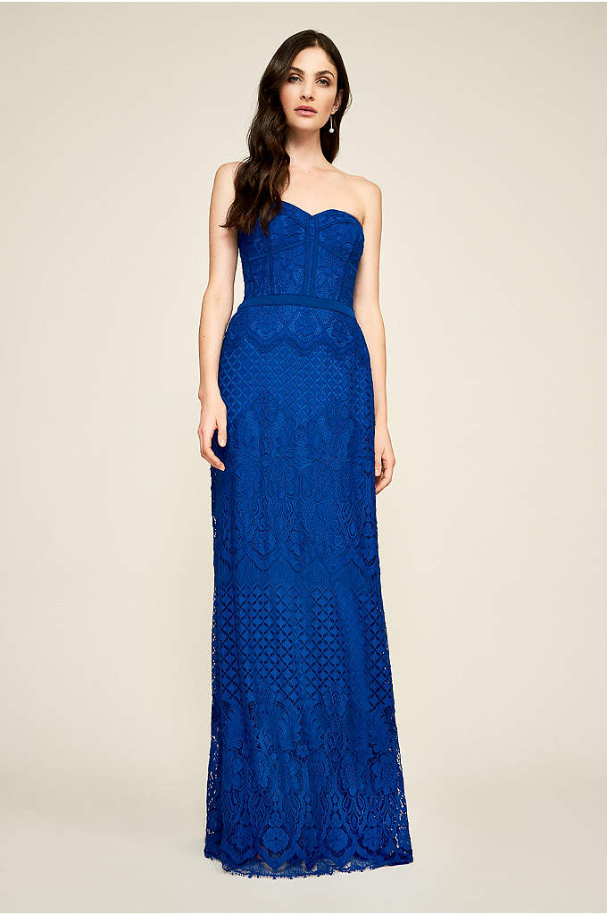 Claudine Strapless Gown - This lovely A-line gown features a bustier-inspired strapless