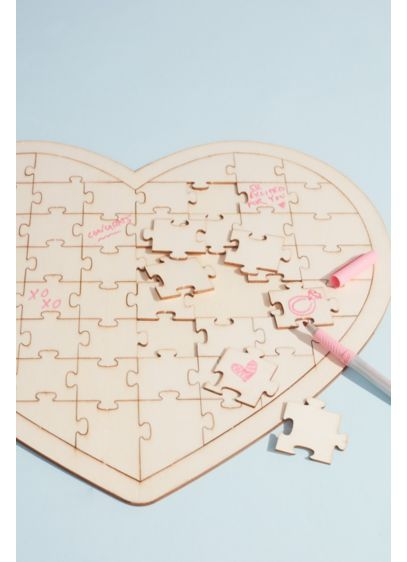Heart Jigsaw Puzzle Guest Book Alternative - Wedding Gifts & Decorations