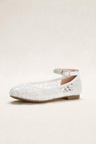 6c1e4290f51e Flower Girl Crochet Lace Ballet Flats