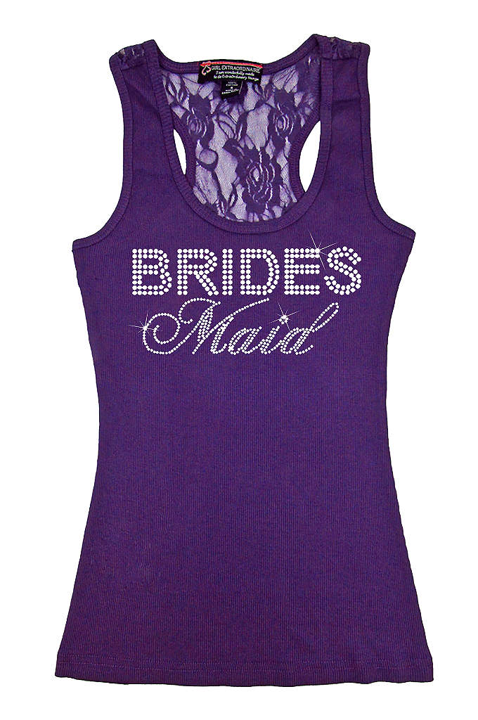 Bridesmaid Big Bling Lace Tank - Make your girls feel special in this trendy