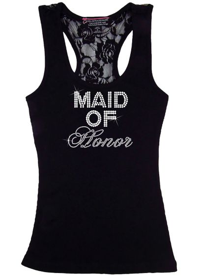 Maid of Honor Big Bling Lace Tank - Wedding Gifts & Decorations