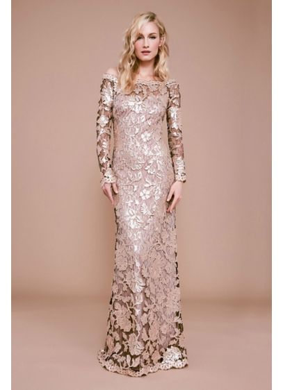 Long Mermaid/Trumpet Long Sleeves Dress - Tadashi Shoji