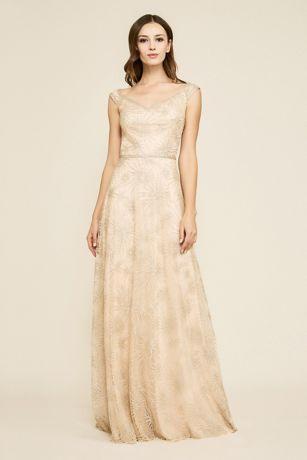 Long Ballgown Off the Shoulder Dress - Tadashi Shoji