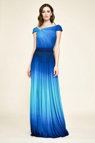 Long Short Sleeves Dress - Tadashi Shoji