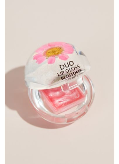 Metallic Lip Gloss Tube with Flower - This oh-so pretty lip gloss will get every