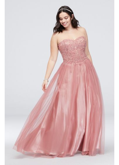 783a4874bd3 Long Ballgown Strapless Cocktail and Party Dress - Blondie Nites