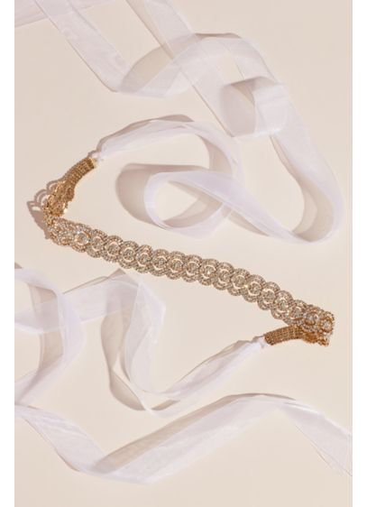 Concentric Crystal Sash - Ripples of circular shapes create this eye-catching sparkler,