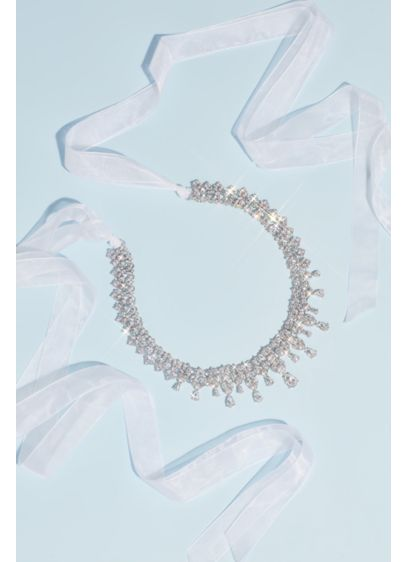 Dangling Teardrop Crystal Sash - Glam up your gown with this exquisite sash,