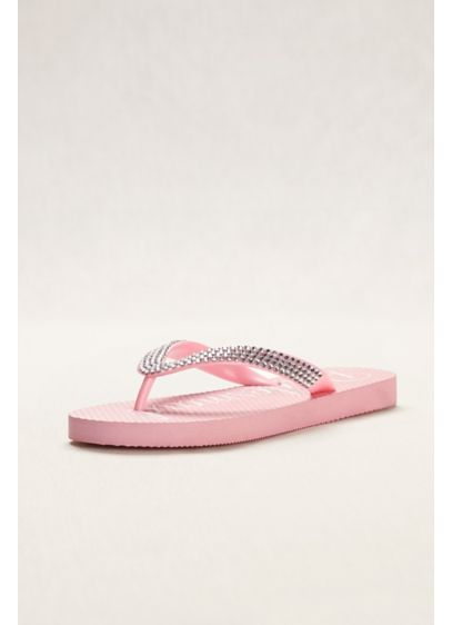 David's Bridal Pink (Crystal Bridesmaid Flip Flops)