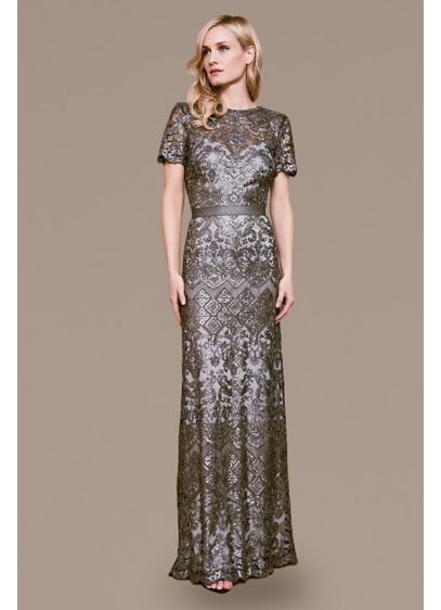 Long 0 Short Sleeves Mother and Special Guest Dress - Tadashi Shoji