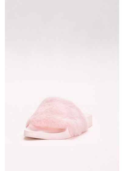 Qupid Pink (Faux-Fur Slides)
