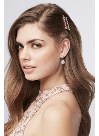 David's Bridal Pink (Rose Gold Crystal Bobby Pins)