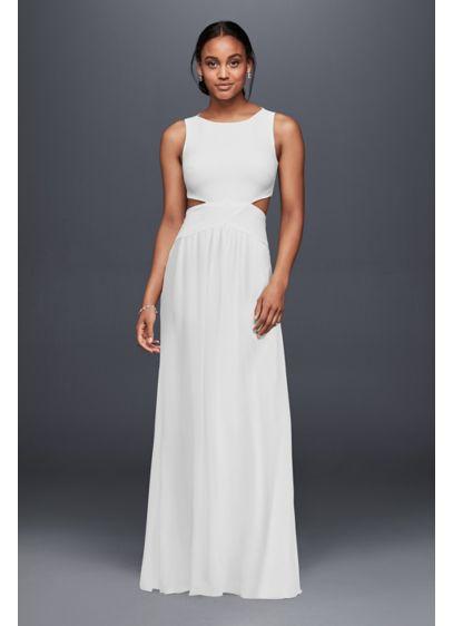 Long Sheath Beach Wedding Dress - Nicole Miller