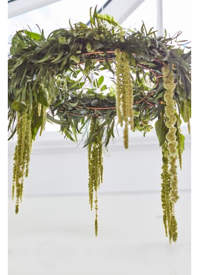 Hanging Foliage Hoops Decoration - Thread these hoops with greens, flowers, or ribbons