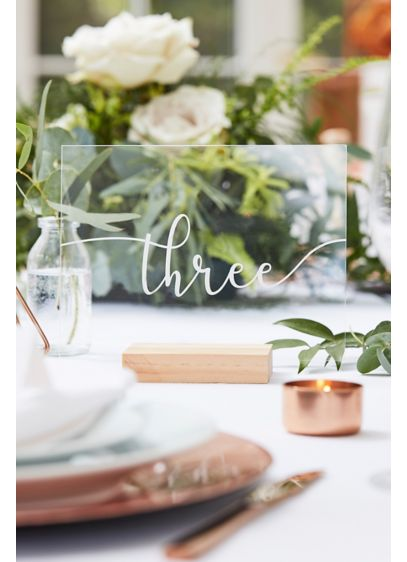 Wood and Acrylic Table Numbers - Wedding Gifts & Decorations
