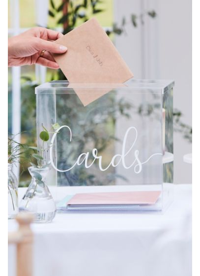 Acrylic Card Box - This minimalist card box is crafted of acrylic,
