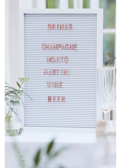White Peg Board with Copper Letters - Wedding Gifts & Decorations