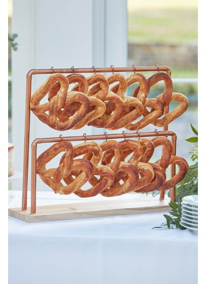 Copper and Wood Pretzel Stand - Add this stand to your dessert table so