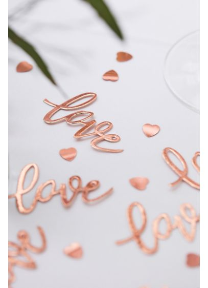 Rose Gold Love Confetti - Sprinkle this rose gold