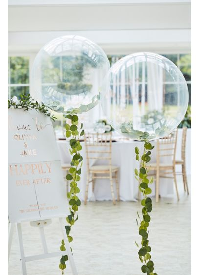 Clear Orb Foliage Vine Balloon - Wedding Gifts & Decorations