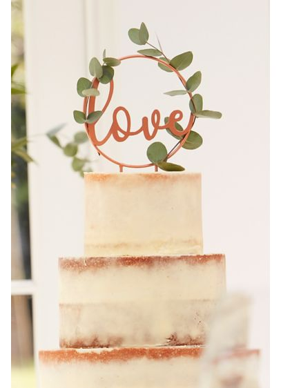 Rose Gold Metal Hoop Cake Topper - Featuring the word