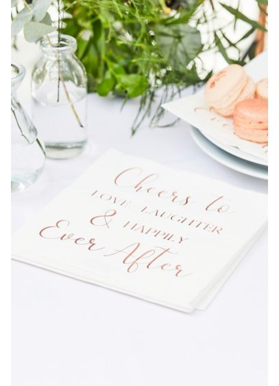 Cheers To Love Napkin Set - Featuring the phrase
