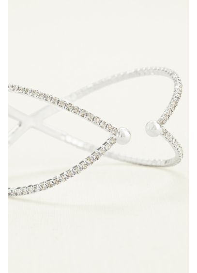 David's Bridal Grey (Crisscross Pave Bracelet)