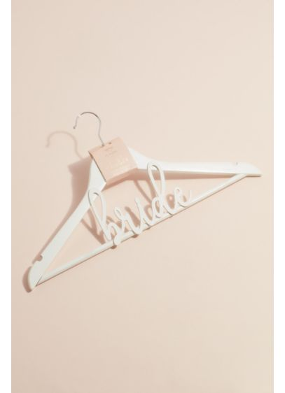 White (White Wooden Bride Hanger)