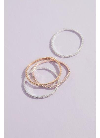 Sparkling Crystal Stretch Bracelet Set - Wedding Accessories