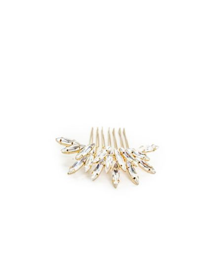Scattered Crystal Navette Comb - Sparkling navette crystals create a beautiful sunburst on