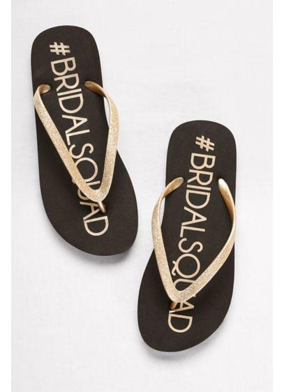 David's Bridal Black (Bridal Squad Flip-Flops)
