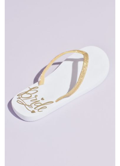 Bride Crystal Flip Flops - The perfect getting-ready sandal. You'll want to slip