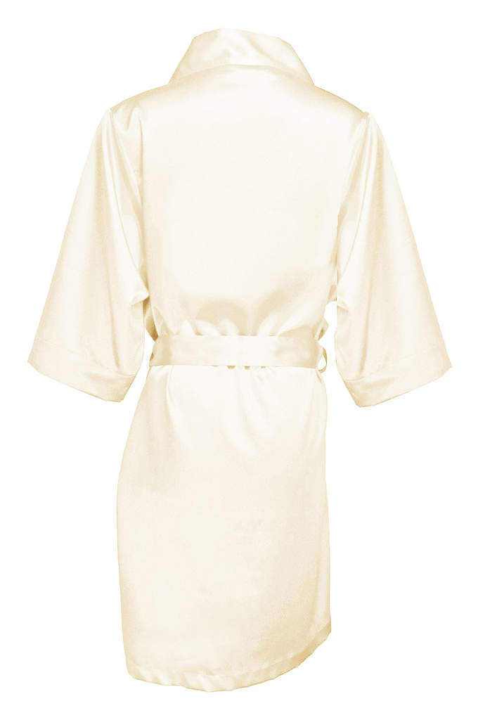 Blank Bridal Luxury Satin Robe - Comfortable and gorgeous, this Blank Bridal Luxury Satin