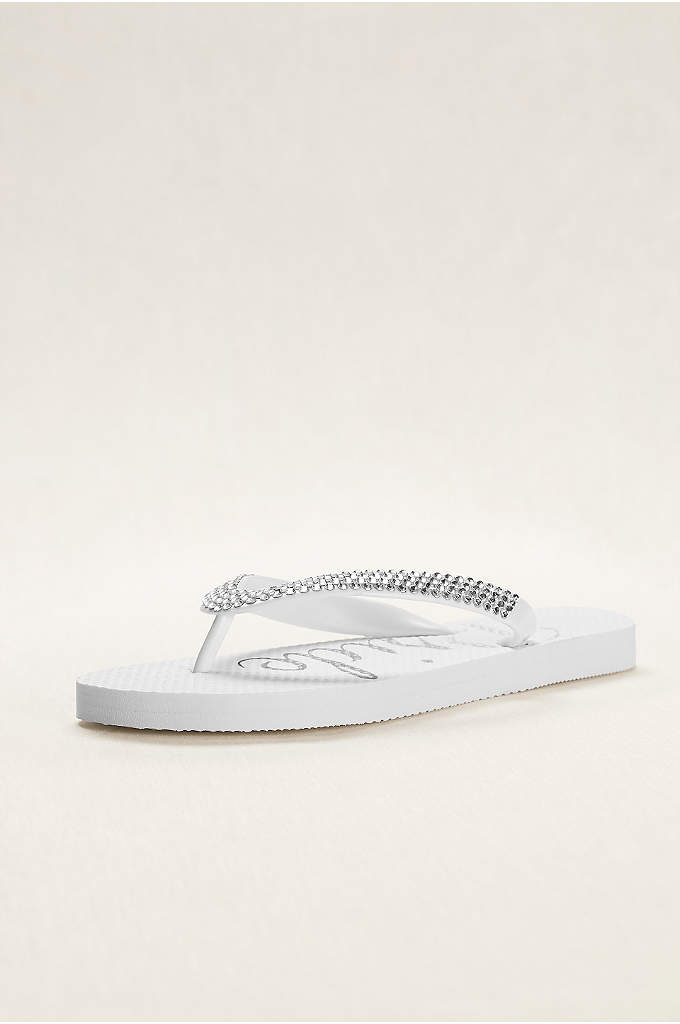 Crystal Bride Flip Flops - The perfect getting-ready sandal. You'll want to slip