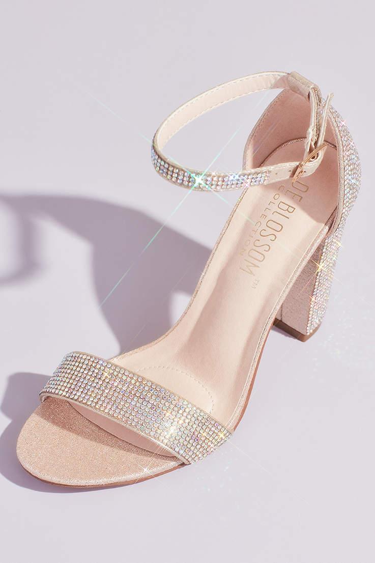 Nude Glitter Heels