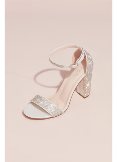 With Crystal Heel Block AccentsDavid's Sandals Shimmering Bridal f6gybY7